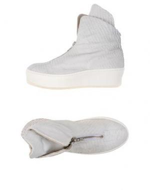 Высокие кеды и кроссовки UNLACE. Цвет: белый