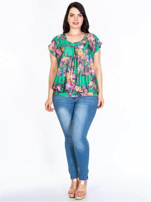 Блузка HELLO MODA!. Цвет: зеленый, фиолетовый