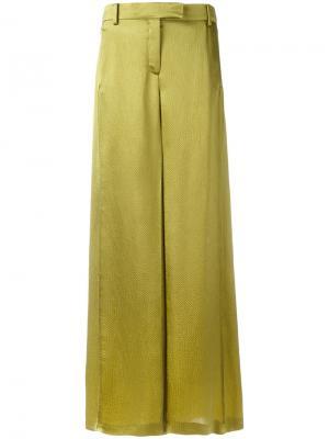 Расклешенные брюки Valentino. Цвет: зелёный