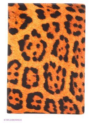 Обложка для паспорта Леопардовый принт Mitya Veselkov. Цвет: оранжевый, черный