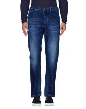 Джинсовые брюки RE.BELL. Цвет: синий