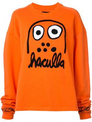 Кофта с принтом логотипа Haculla. Цвет: жёлтый и оранжевый