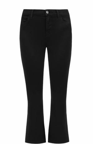 Укороченные расклешенные джинсы J Brand. Цвет: черный