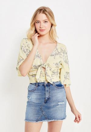 Блуза Miss Selfridge. Цвет: желтый