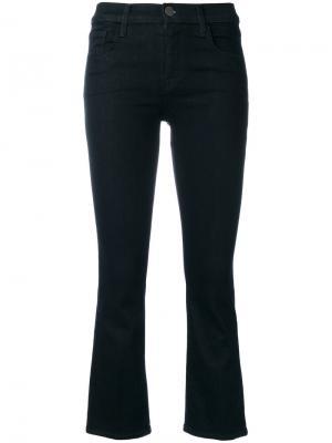Укороченные брюки клеш Selena J Brand. Цвет: синий