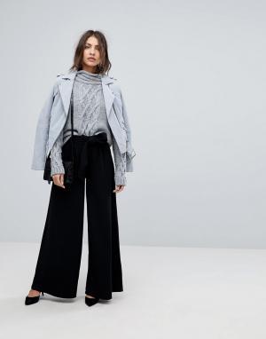 Y.A.S Широкие брюки с завышенной талией. Цвет: черный