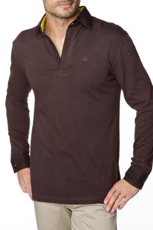 Рубашка-поло GAZOIL. Цвет: коричневый