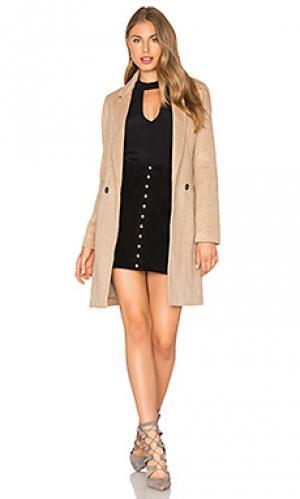 Пальто tash Bardot. Цвет: цвет загара