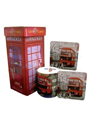Набор для чаепития GiftLand. Цвет: красный, белый, черный, серый, коричневый