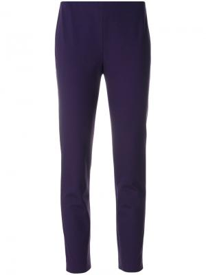 Укороченные зауженные книзу брюки Les Copains. Цвет: розовый и фиолетовый