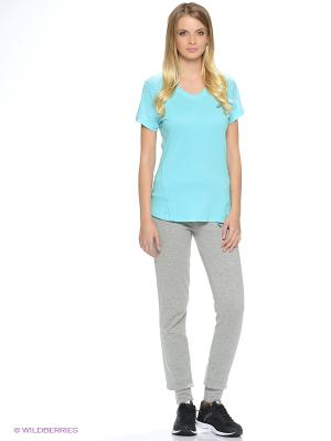 Футболка fuzeX V-NECK SS TOP ASICS. Цвет: бирюзовый