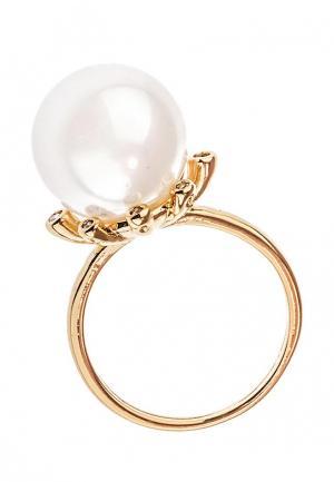 Кольцо Lebedi Crystals. Цвет: золотой