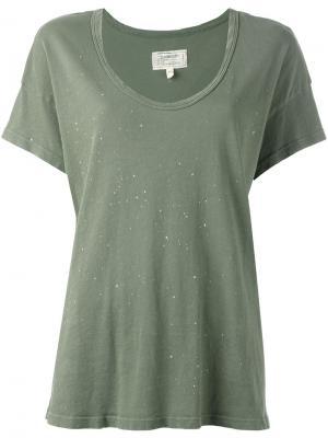 Slouchy Scoop T-shirt Current/Elliott. Цвет: зелёный