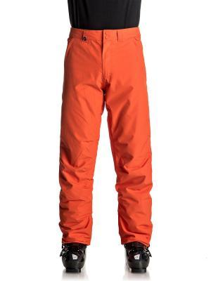 Брюки сноубордические Quiksilver. Цвет: оранжевый, рыжий