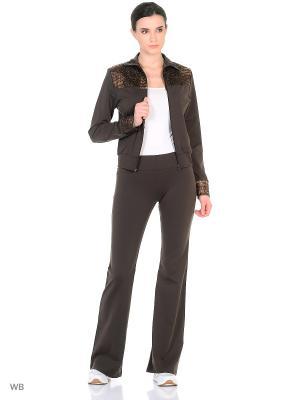 Спортивный костюм Bars. Цвет: темно-коричневый