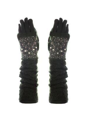 Перчатки - митенки Bijoux Land. Цвет: зеленый