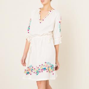 Платье  ALYSSA ANTIK BATIK. Цвет: кремовый