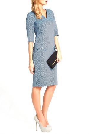 Офисное платье Vittoria Vicci. Цвет: голубой