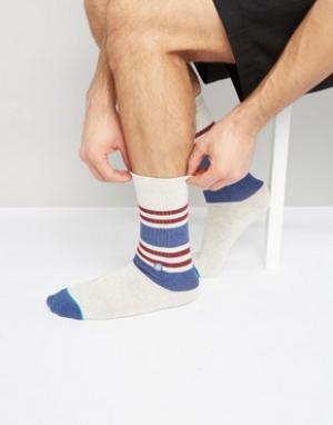 Stance Белые спортивные носки с полосками. Цвет: белый