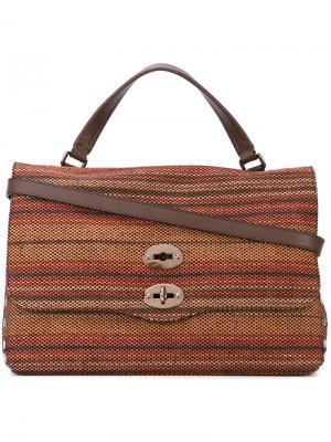 Плетеная сумка-тоут Zanellato. Цвет: многоцветный