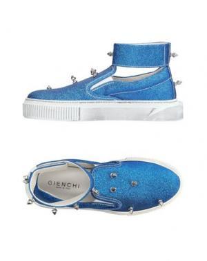 Высокие кеды и кроссовки GIENCHI. Цвет: ярко-синий