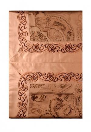 Комплект постельного белья Семейный Asabella. Цвет: коричневый