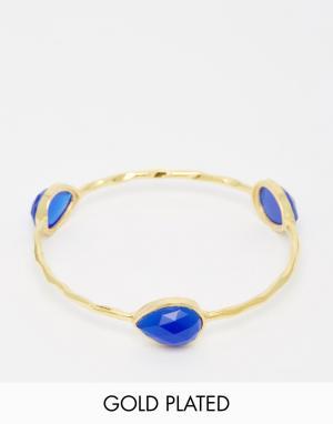Taara Jewellery Позолоченный браслет. Цвет: темный синий