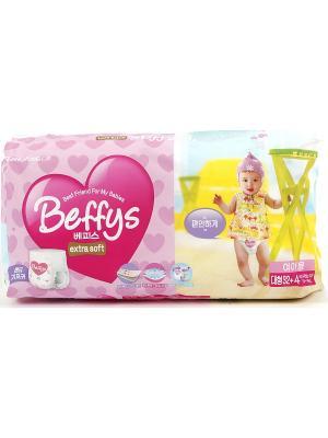 Подгузники-трусики Beffys extra soft для девочек размер L (10-14 кг.) 36 шт. Beffy's. Цвет: красный