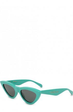 Солнцезащитные очки Céline Eyewear. Цвет: бирюзовый