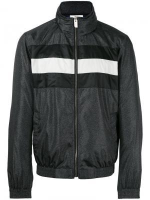 Куртка-бомбер с полосатой отделкой Bally. Цвет: серый