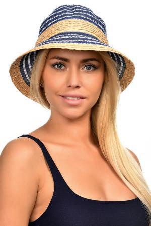 Шляпа DelMare. Цвет: солома, джинса