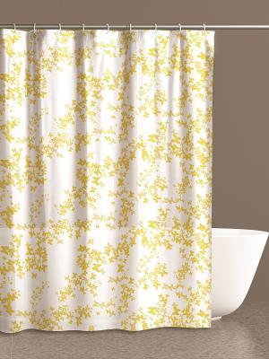 Штора для ванной комнаты 180х200 100% ПВХ IQ-SPA. Цвет: желтый