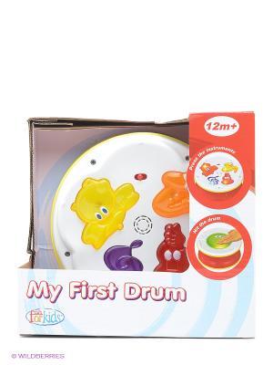 Музыкальный барабан Toy Target. Цвет: белый