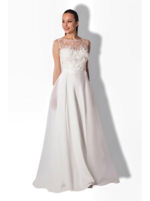 Платье SEAM. Цвет: молочный