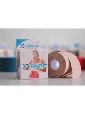 Лента кинезиологическая Precute X-TAPE. Цвет: бежевый