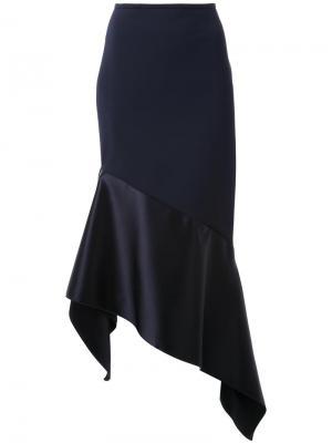 Асимметричная юбка миди Dion Lee. Цвет: чёрный