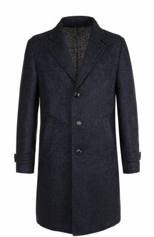 Однобортное шерстяное пальто Ermenegildo Zegna. Цвет: синий