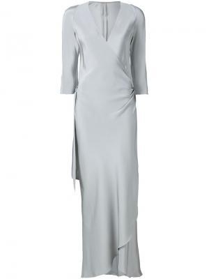 Вечернее платье Peter Cohen. Цвет: серый