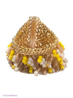 Браслет Bijoux Land. Цвет: золотистый, желтый, белый, бежевый