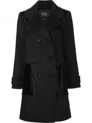 Пальто Hawthorne Zac Posen. Цвет: чёрный