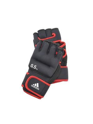 Перчатки с утяжелителями (пара) Adidas. Цвет: черный, красный