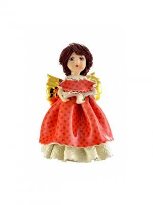 Статуэтка Ангел-певица Zampiva. Цвет: красный, белый, коричневый