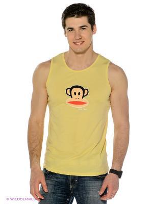 Майка Paul Frank. Цвет: светло-желтый, персиковый, черный