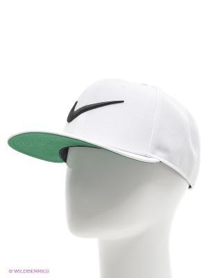 Бейсболка SWOOSH PRO - BLUE Nike. Цвет: зеленый, белый