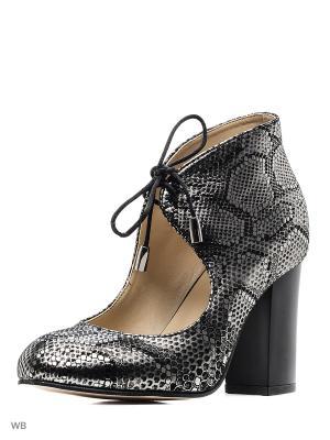 Туфли ESTELLA. Цвет: черный, серебристый