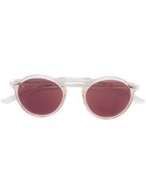 Солнцезащитные очки Letter Smoke X Mirrors. Цвет: телесный