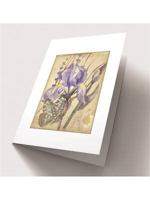 Набор для создания открытки Сиреневый нектар Матренин Посад. Цвет: зеленый, бежевый, фиолетовый
