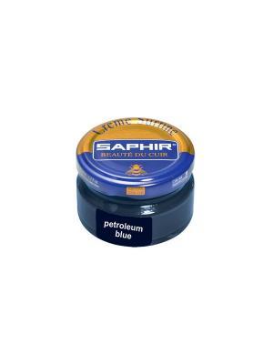 Крем банка СТЕКЛО Creme Surfine, 50мл. (petroleum blue) Saphir. Цвет: темно-синий
