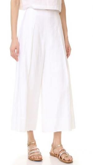 Широкие брюки с теневыми полосками KENDALL + KYLIE. Цвет: серый