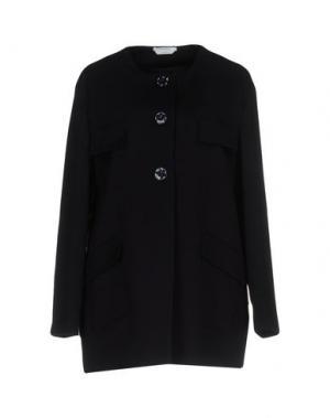 Легкое пальто BIANCOGHIACCIO. Цвет: темно-синий